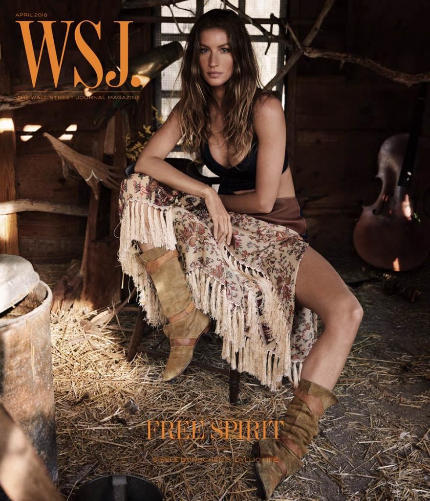 Gisele Bündchen covers WSJ. Magazine April 2018 by Mikael Jansson