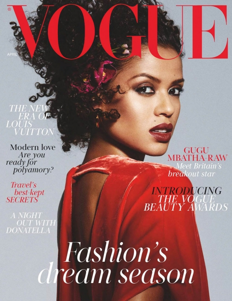 Gugu Mbatha-Raw covers British Vogue April 2018 by Mikael Jansson