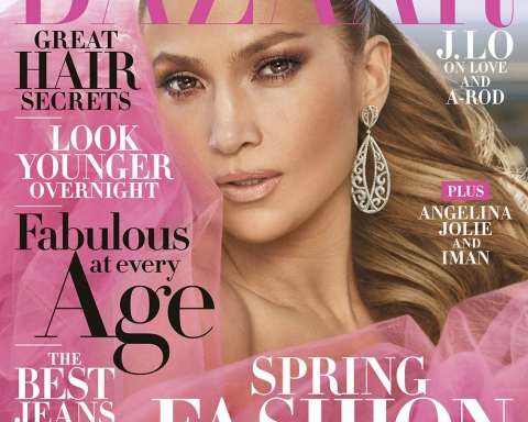 Jennifer Lopez covers Harper's Bazaar US April 2018 by Mariano Vivanco
