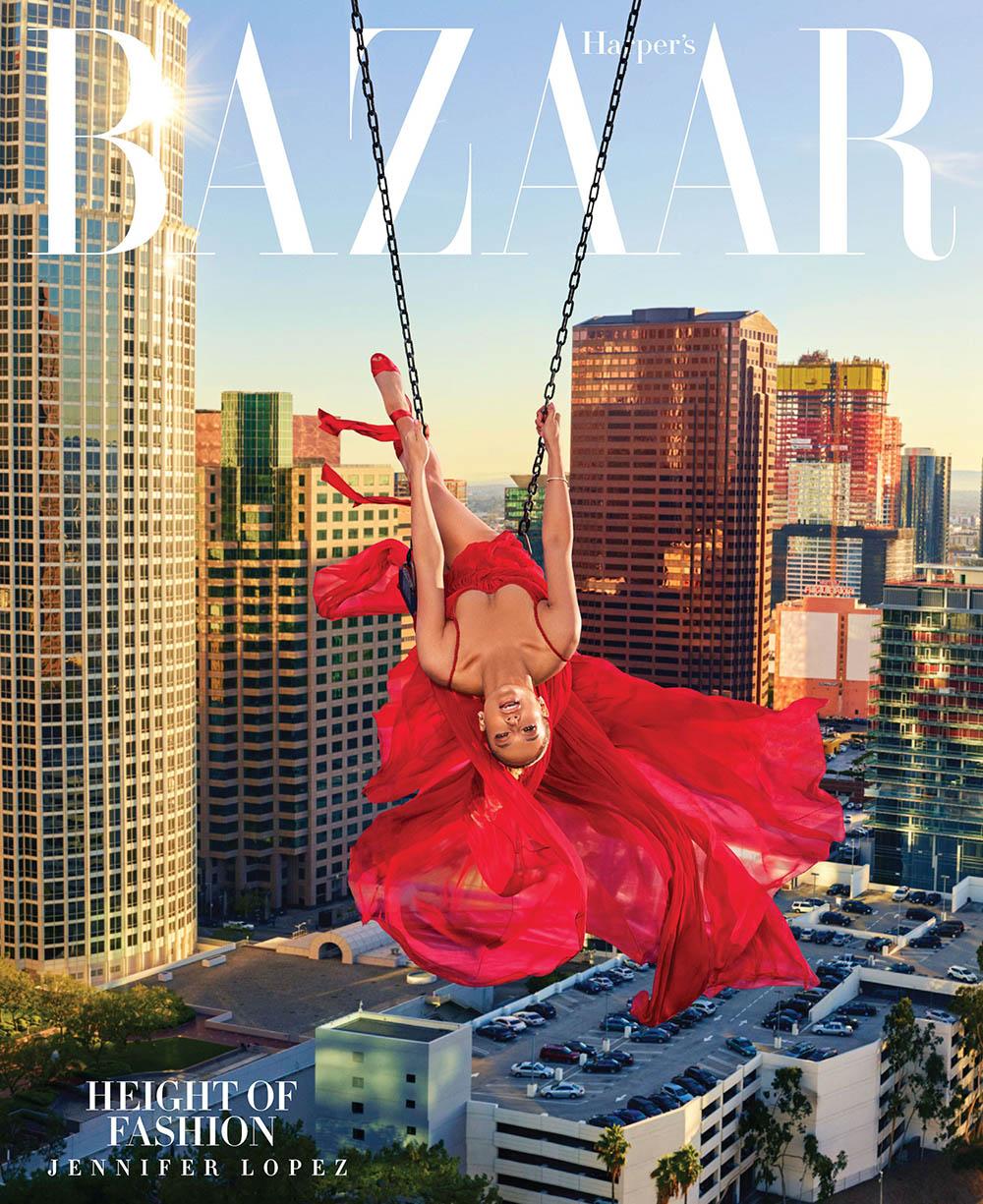 Jennifer Lopez covers Harper's Bazaar US April 2018 by Mariano Vivanco