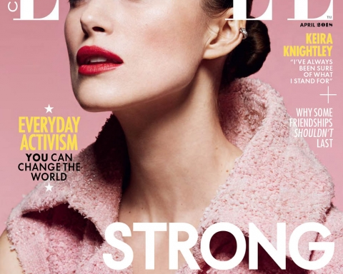 Keira Knightley covers Elle Canada April 2018 by Liz Collins