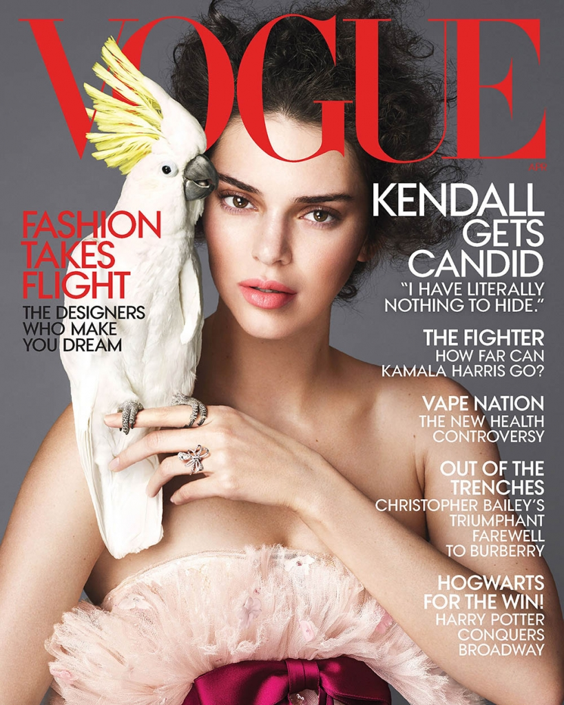 Kendall Jenner covers Vogue US April 2018 by Mert & Marcus