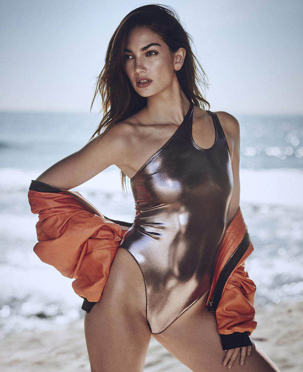 Lily Aldridge by Boo George for Elle US April 2018