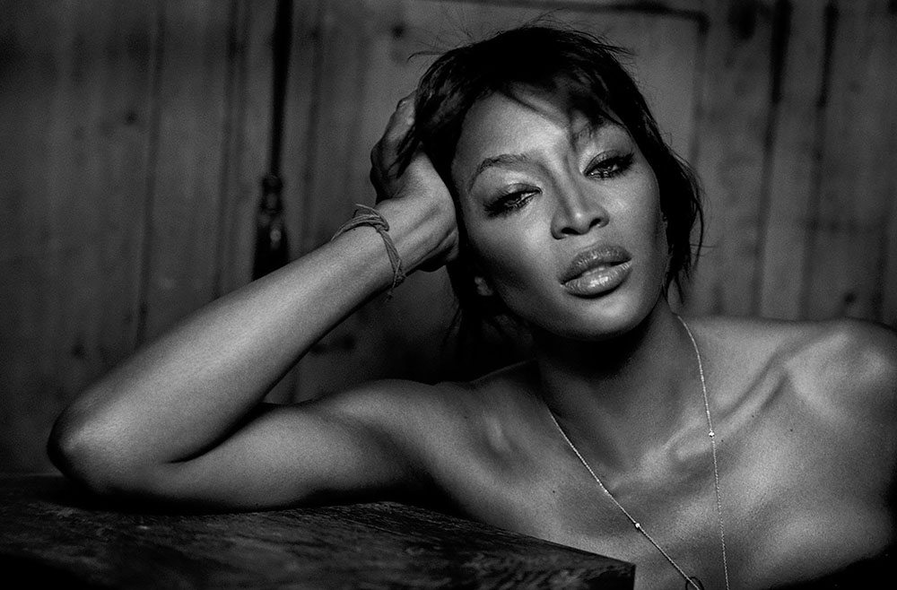Naomi Campbell covers Numéro April 2018 by Peter Lindbergh