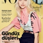 Sasha Pivovarova covers Vogue Turkey April 2018 by Liz Collins