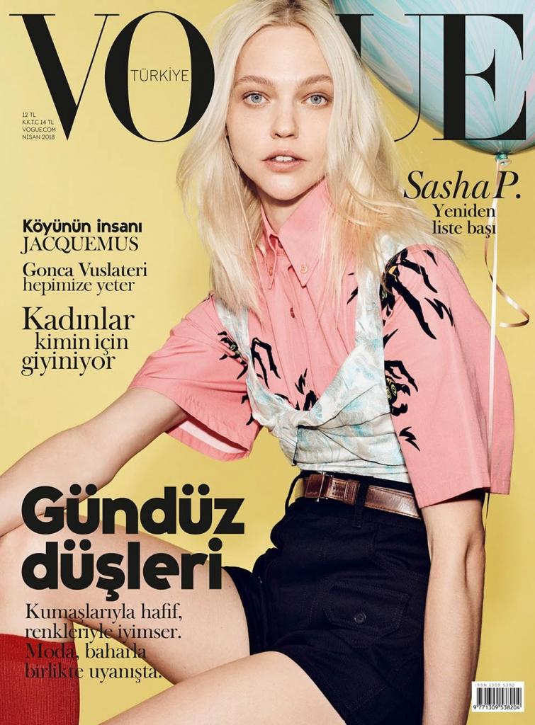 Sasha Pivovarova covers Vogue Turkey April 2018 by Liz Collins