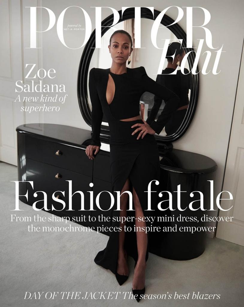 Zoe Saldana covers Porter Edit April 6th, 2018 by Ward Ivan Rafik