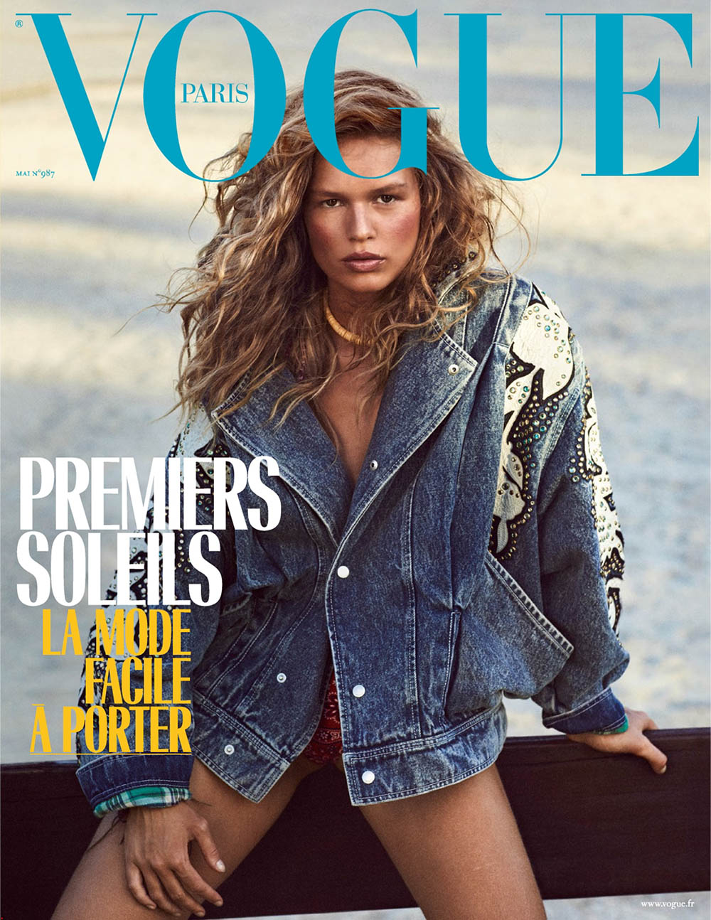 Anna Ewers covers Vogue Paris May 2018 by Mikael Jansson