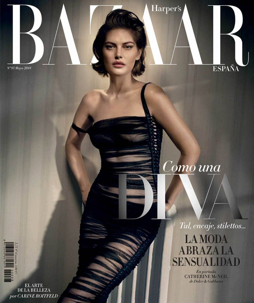 Catherine McNeil covers Harper's Bazaar Spain May 2018 by Vincent Peters