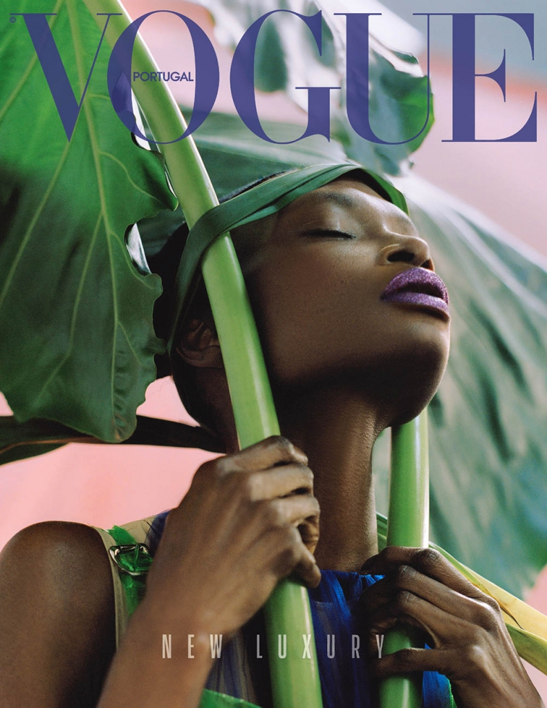 Debra Shaw covers Vogue Portugal May 2018 by Dan Beleiu