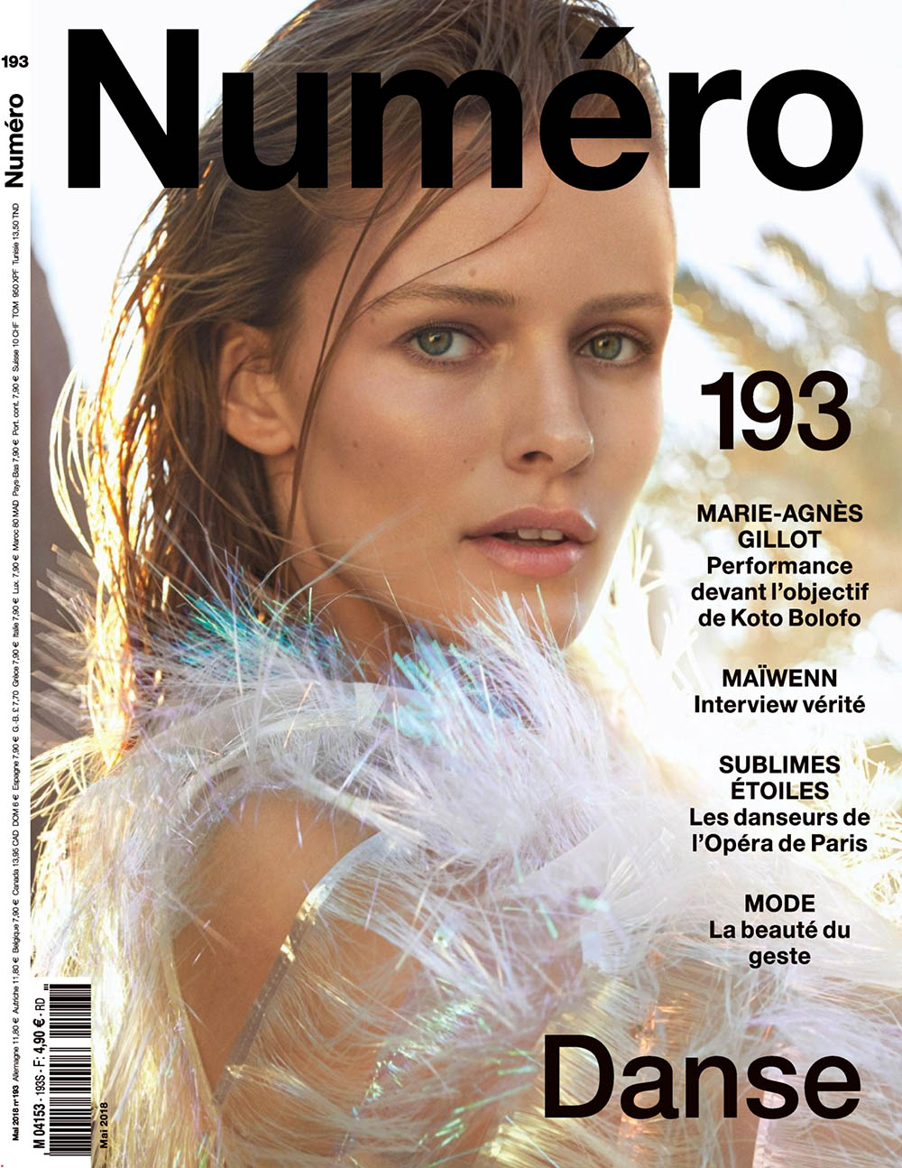 Edita Vilkeviciute covers Numéro May 2018 by Txema Yeste