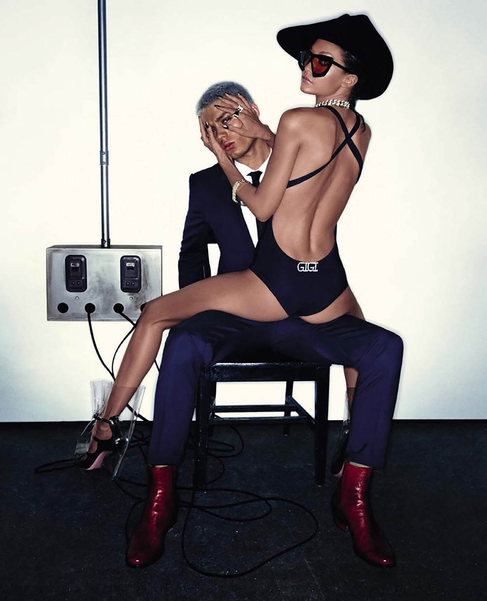 Gigi Hadid and Justin Eric Martin cover Vogue Italia May 2018 by Steven Klein