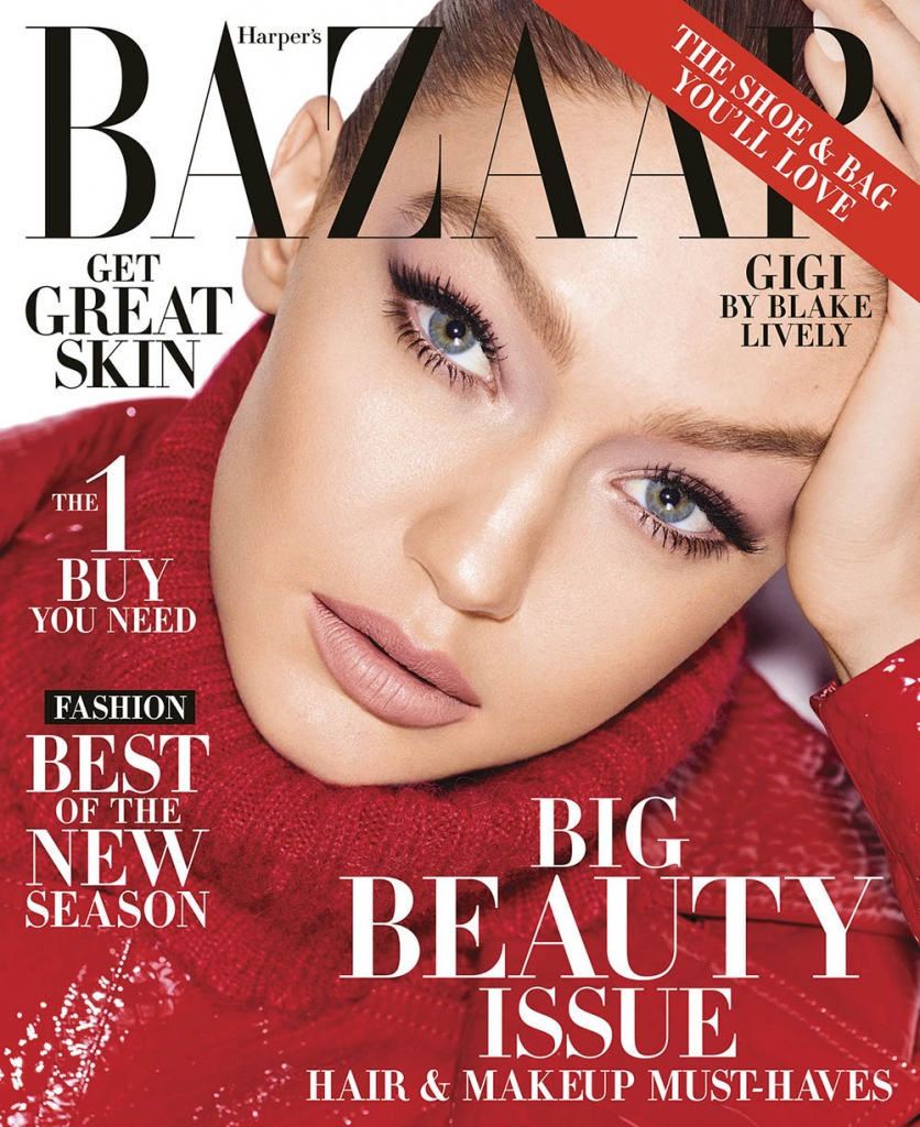 Gigi Hadid covers Harper's Bazaar US May 2018 by Mariano Vivanco