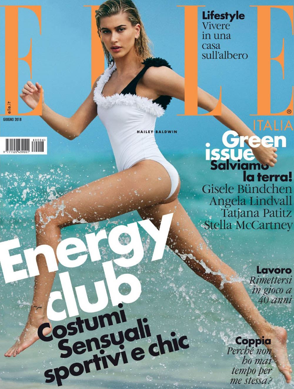 Hailey Baldwin covers Elle Italia June 2018 by Michael Sanders