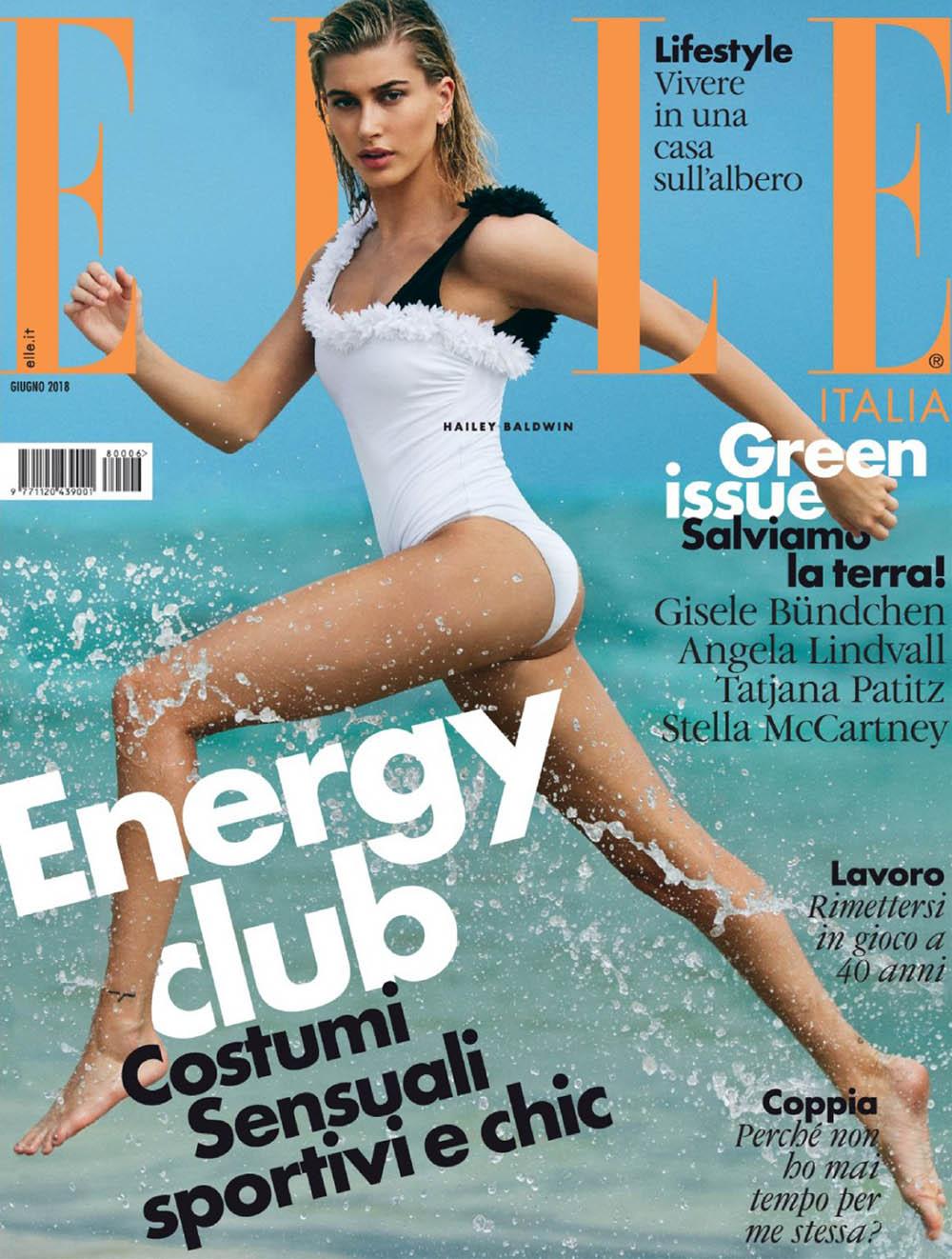 Hailey Baldwin covers Elle Italia June 2018 by Michael Sanders