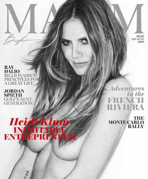 Heidi Klum covers Maxim US May June 2018 by Gilles Bensimon