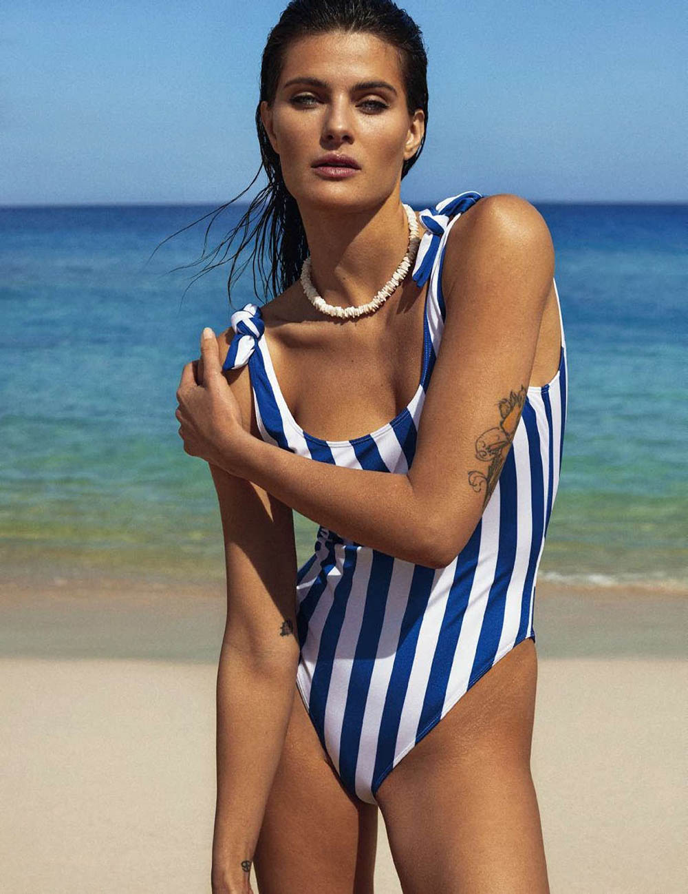 Isabeli Fontana covers Elle Spain May 2018 by Xavi Gordo