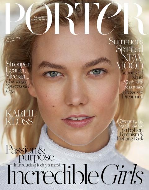 Karlie Kloss covers Porter Magazine Summer 2018 by Camilla Akrans