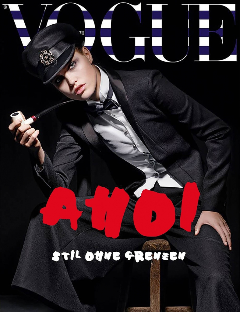 Luna Bijl covers Vogue Germany May 2018 by Karl Lagerfeld