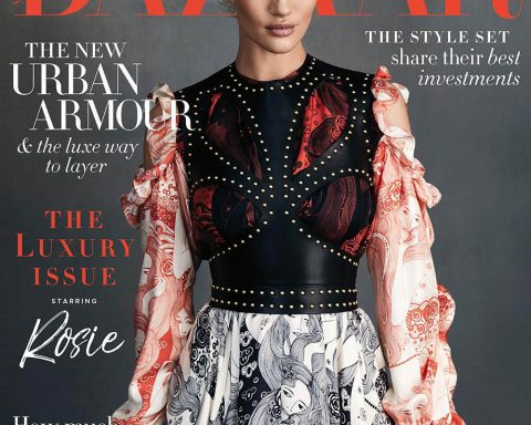 Rosie Huntington-Whiteley covers Harper's Bazaar Australia June 2018 by Darren McDonald