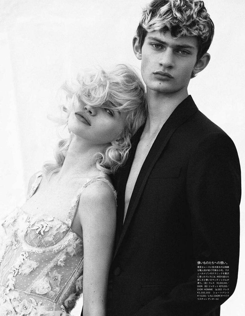 Stella Lucia and Josh Yarr by Francesco Carrozzini for Vogue Japan May 2018