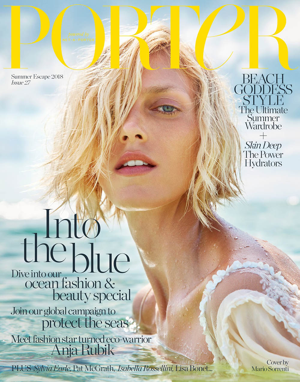 Anja Rubik covers Porter Magazine Summer Escape 2018 by Mario Sorrenti