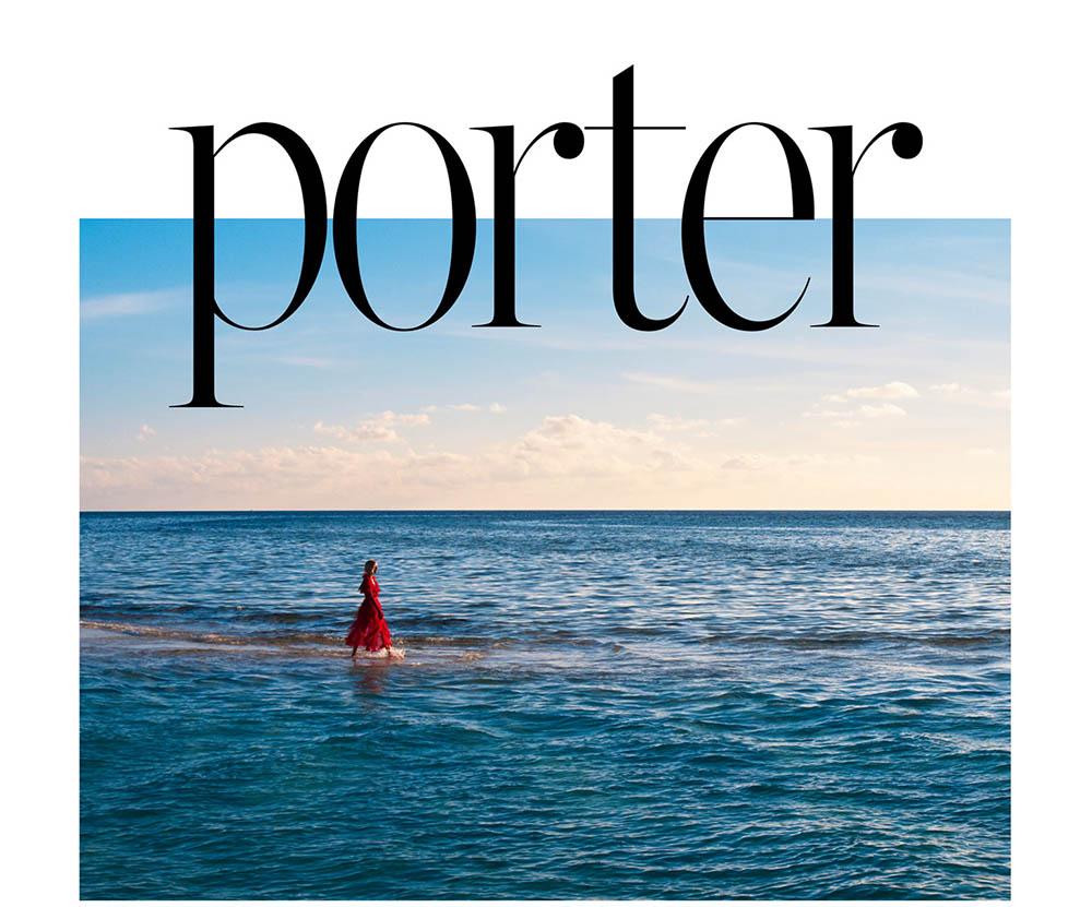 Anja Rubik covers Porter Magazine Summer Escape 2018 by Mario Sorrenti