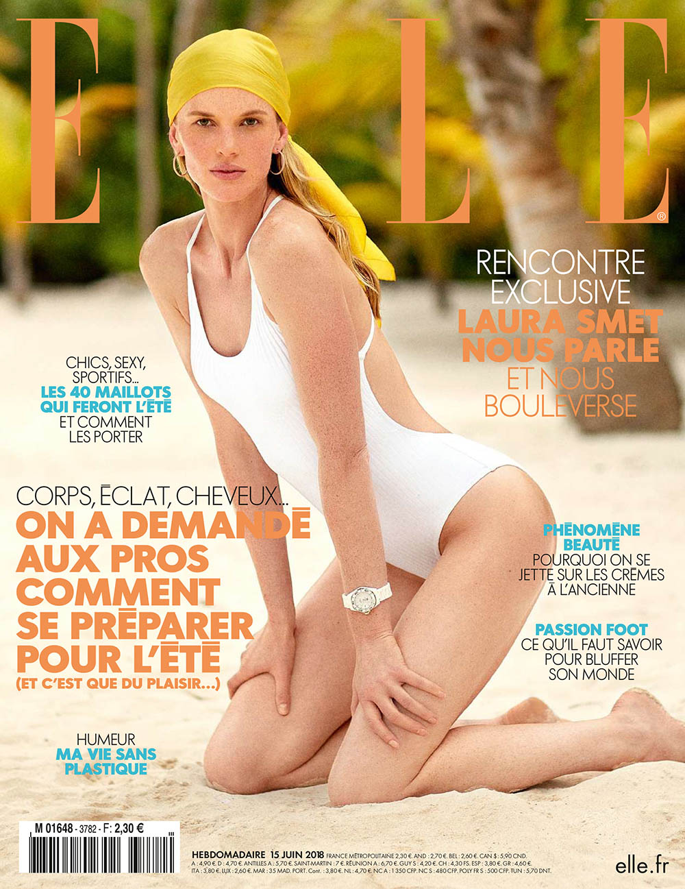 Anne Vyalitsyna covers Elle France June 15th, 2018 by Sam Hendel