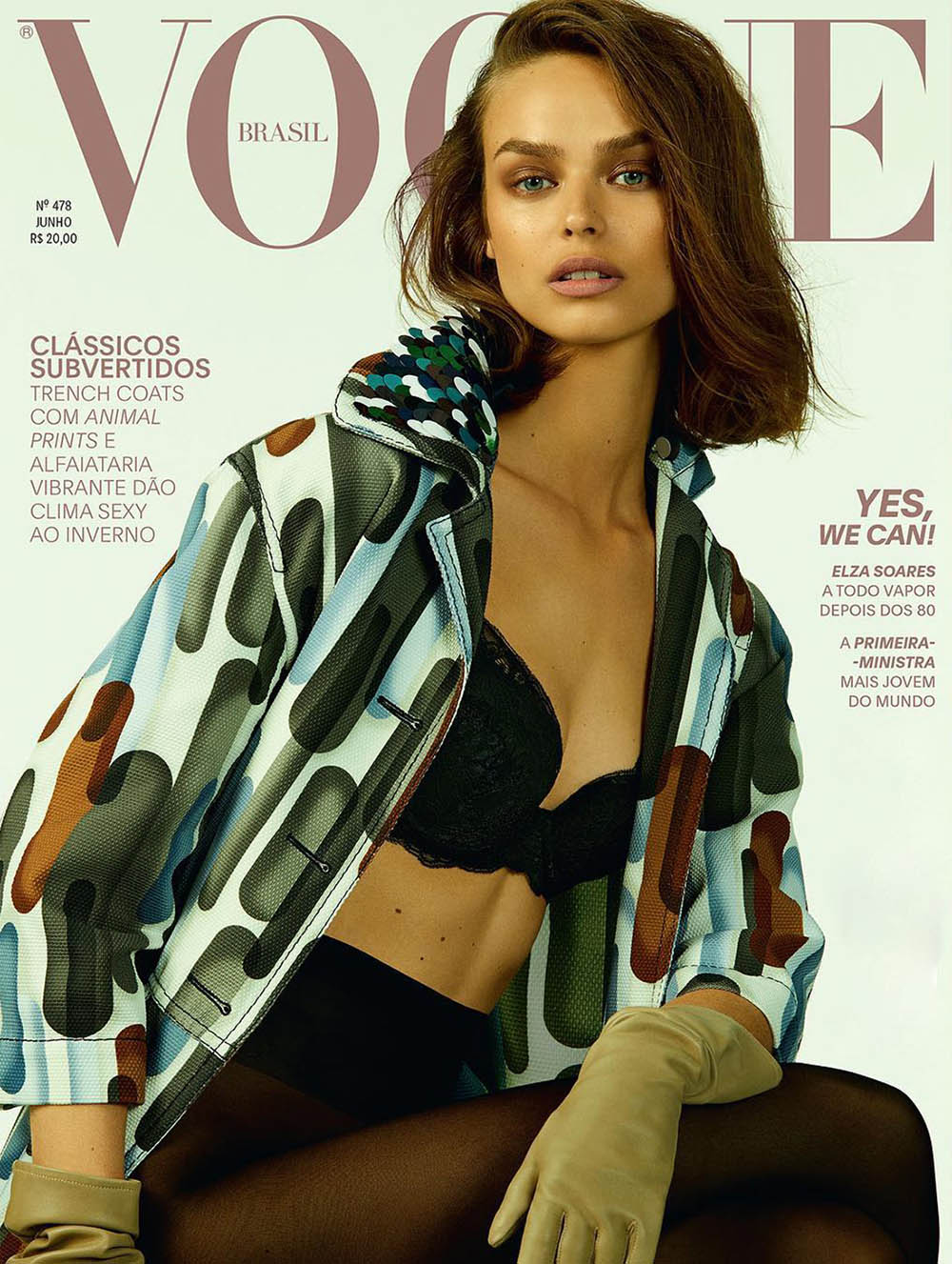 Birgit Kos covers Vogue Brazil June 2018 by Mariana Maltoni