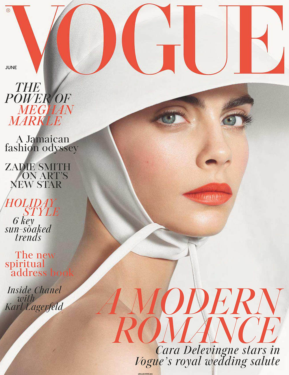 Cara Delevingne covers British Vogue June 2018 by Steven Meisel