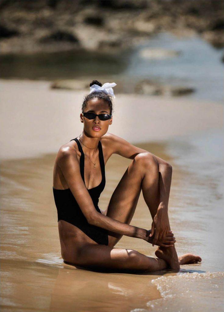 Cindy Bruna by Gilles Bensimon for Elle UK June 2018
