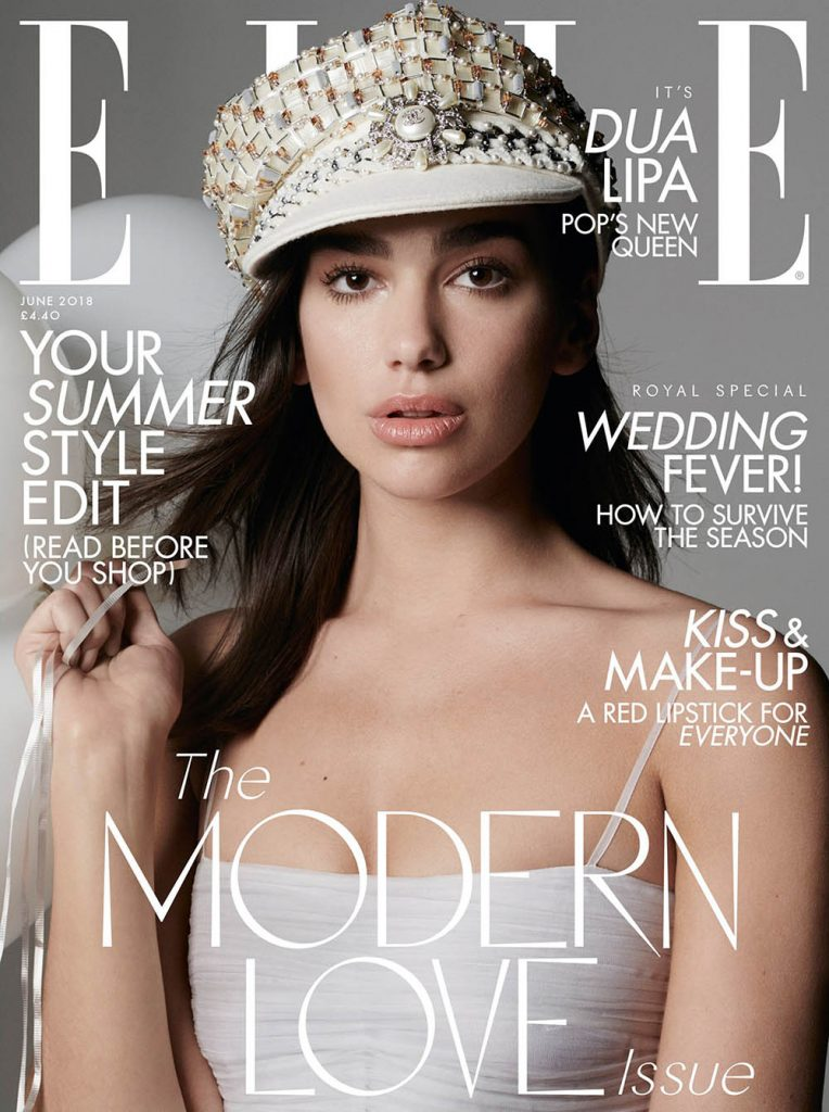 Dua Lipa covers Elle UK June 2018 by Liz Collins