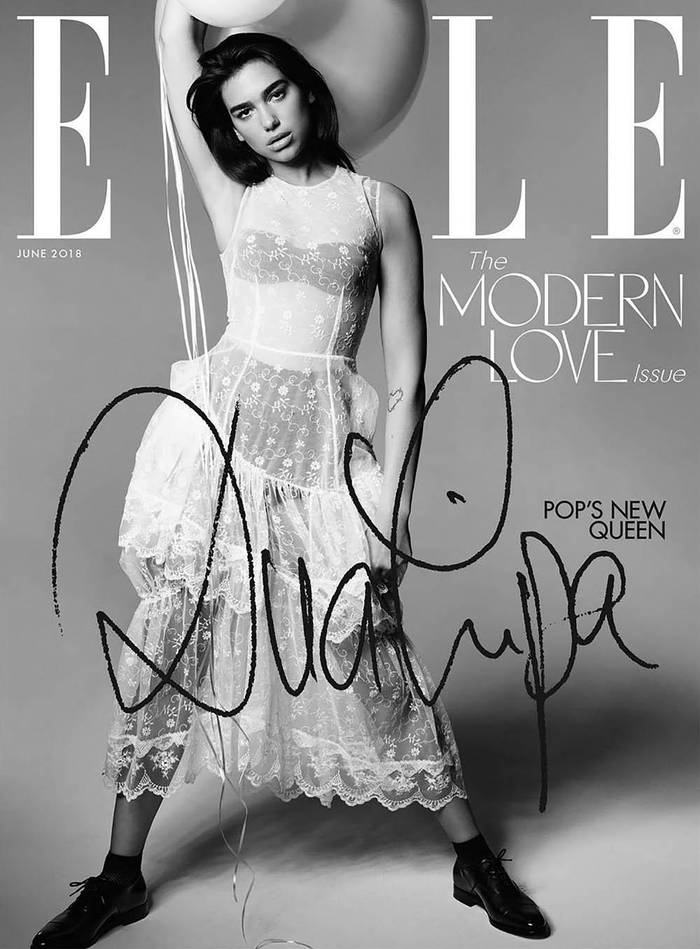 Dua Lipa covers Elle UK June 2018 by Liz Collins