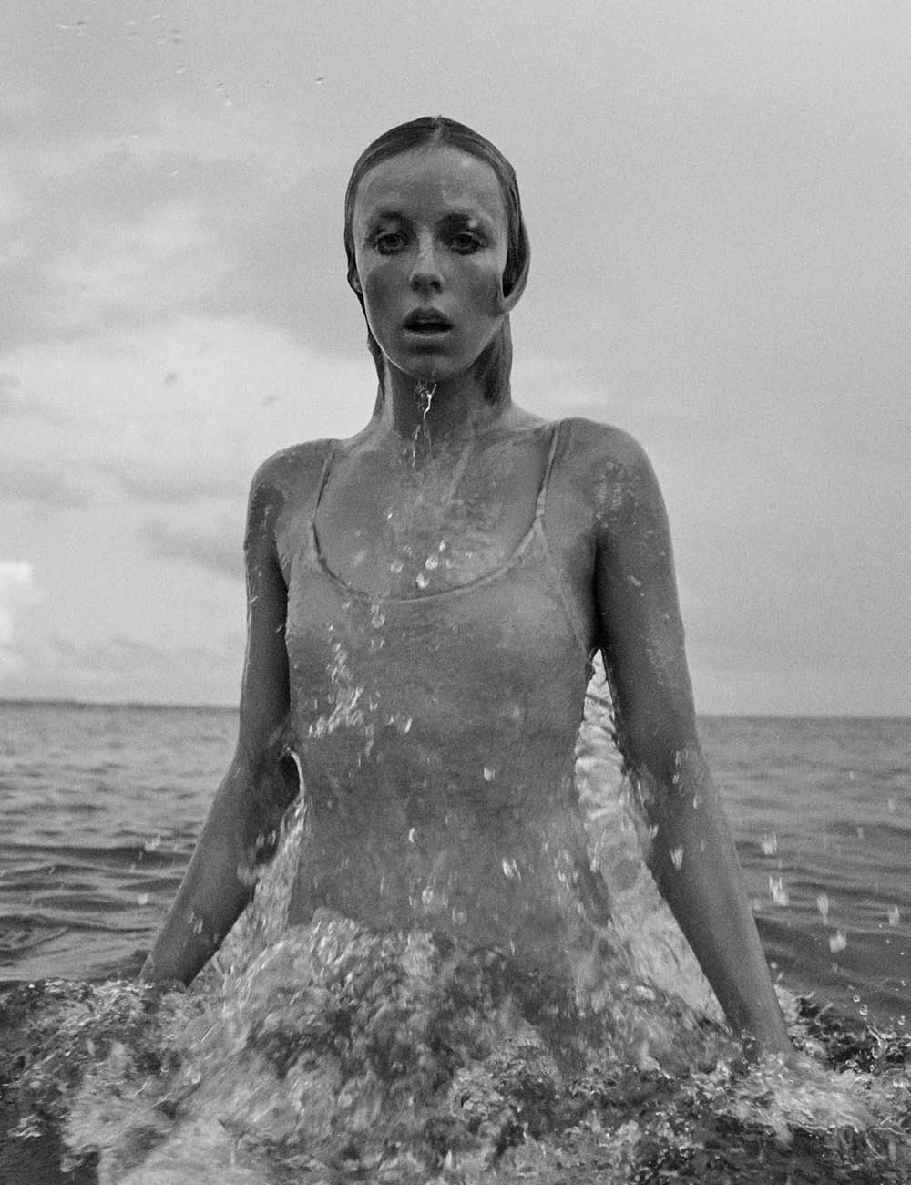 Edie Campbell covers Vogue Paris June 2018 by Mikael Jansson