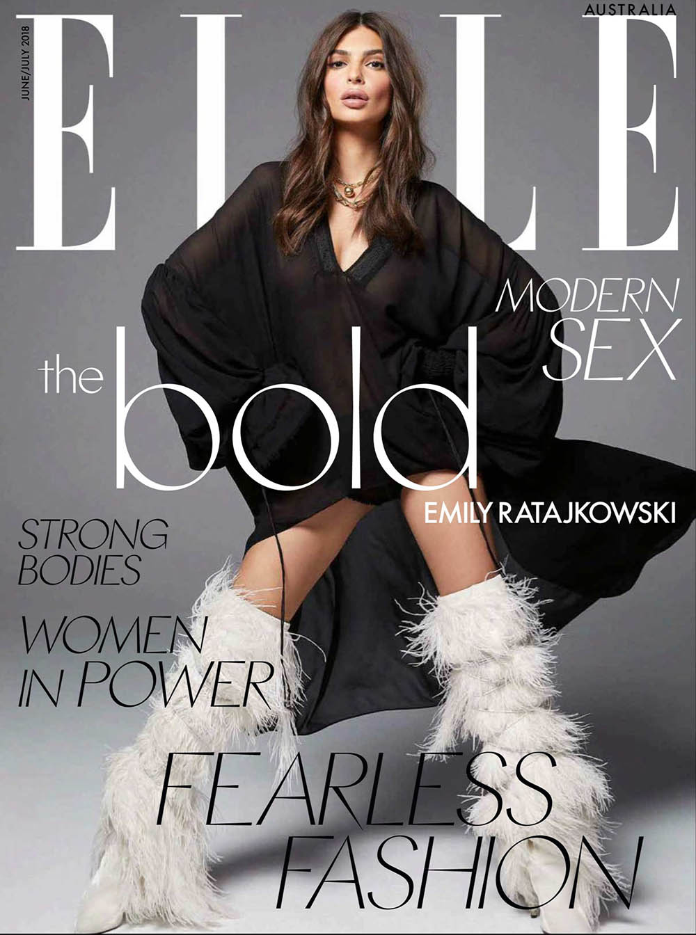 Emily Ratajkowski covers Elle Australia June 2018 by Kai Z Feng