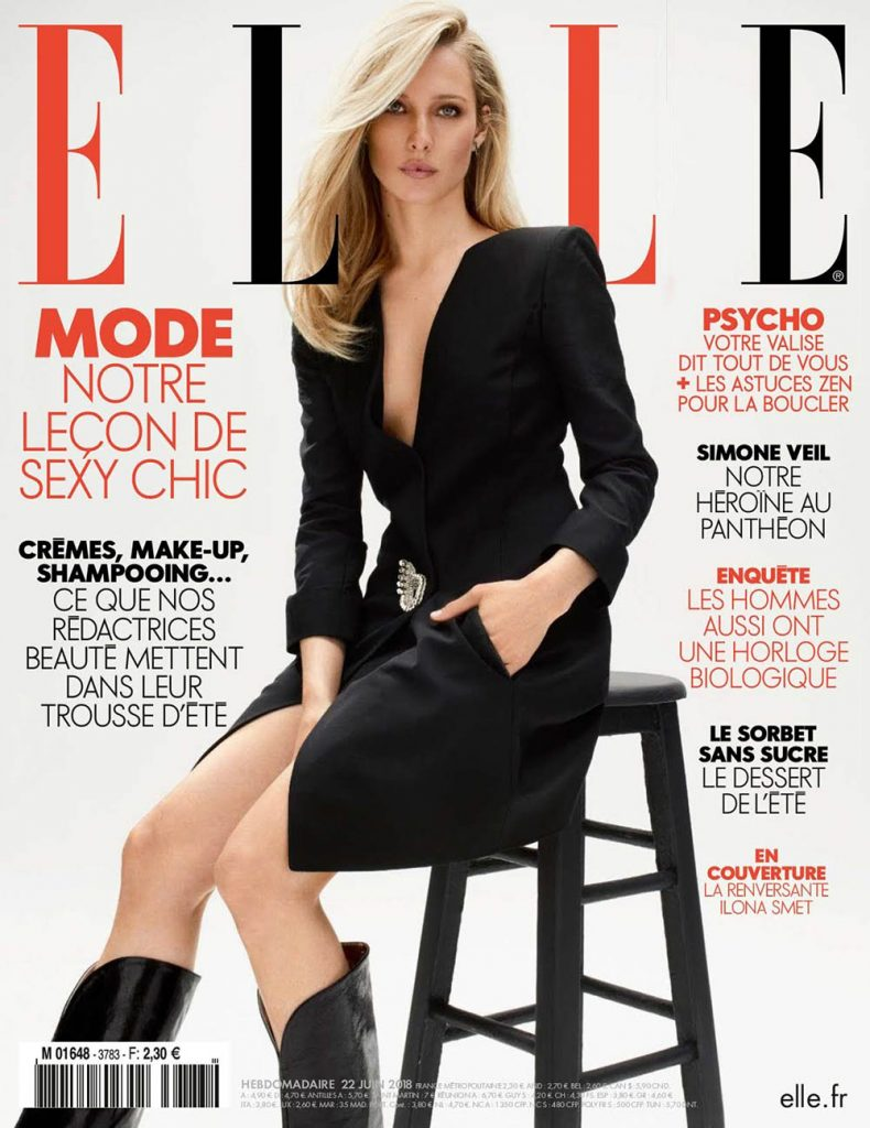 Ilona Smet covers Elle France June 22nd, 2018 by Nik Hartley