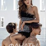 Izabel Goulart, Edu Roman and Jorge Roman cover Elle Russia June 2018 by Xavi Gordo
