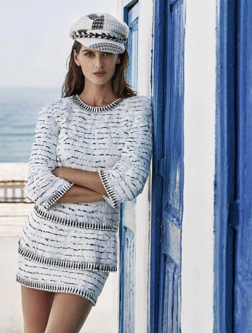 Izabel Goulart, Edu Roman and Jorge Roman cover Elle Russia June 2018 by Xavi Gordo
