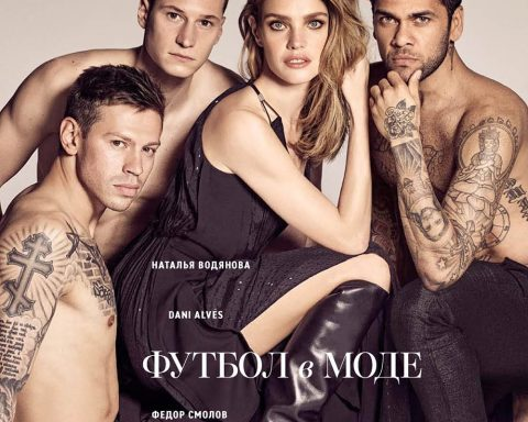 Natalia Vodianova, Julian Draxler, Fedor Smolov and Dani Alves cover Vogue Russia June 2018 by Luigi & Iango