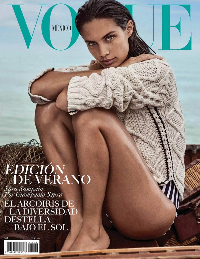 Sara Sampaio covers Vogue Mexico June 2018 by Giampaolo Sgura