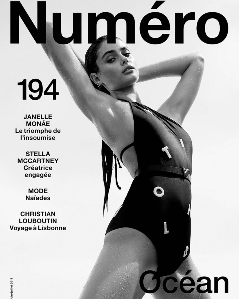 Taylor Hill covers Numéro June 2018 by Jacob Sutton