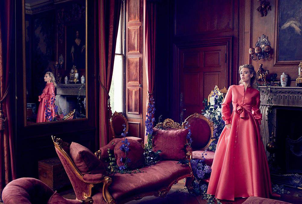 Vanessa Kirby covers Harper's Bazaar UK June 2018 by Alexi Lubomirski