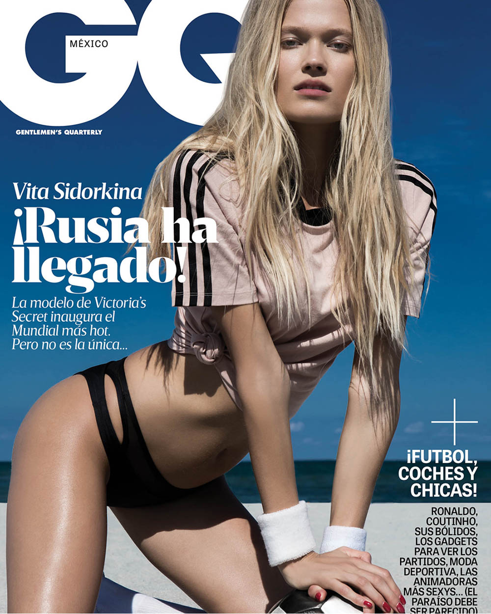 Vita Sidorkina covers GQ Mexico June 2018 by Greg Lotus