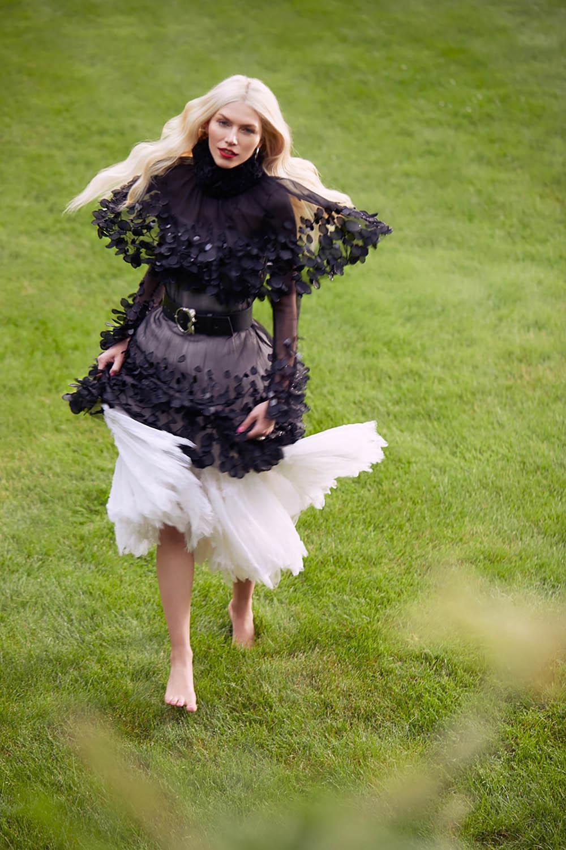 Aline Weber covers Harper's Bazaar Kazakhstan July 2018 by Michael Paniccia