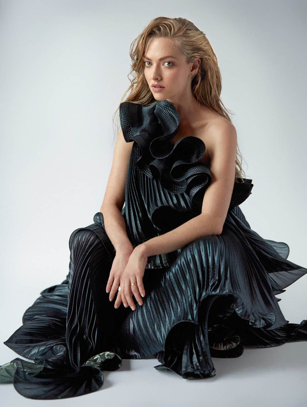 Amanda Seyfried covers Elle UK July 2018 by Sebastian Faena