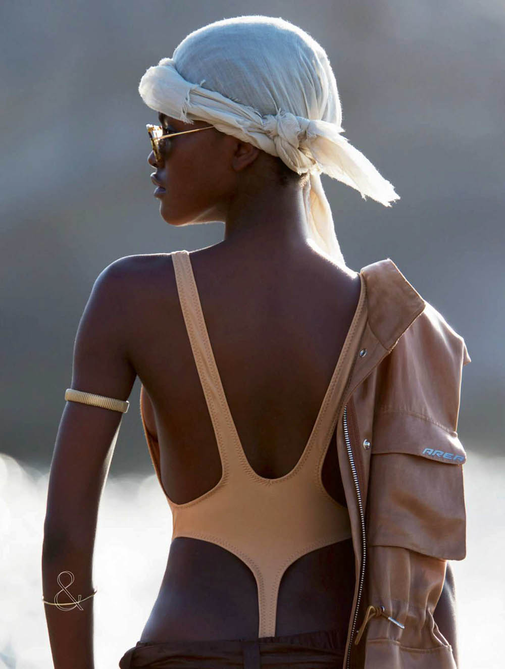 Amilna Estevão by Hans Feurer for Elle UK July 2018