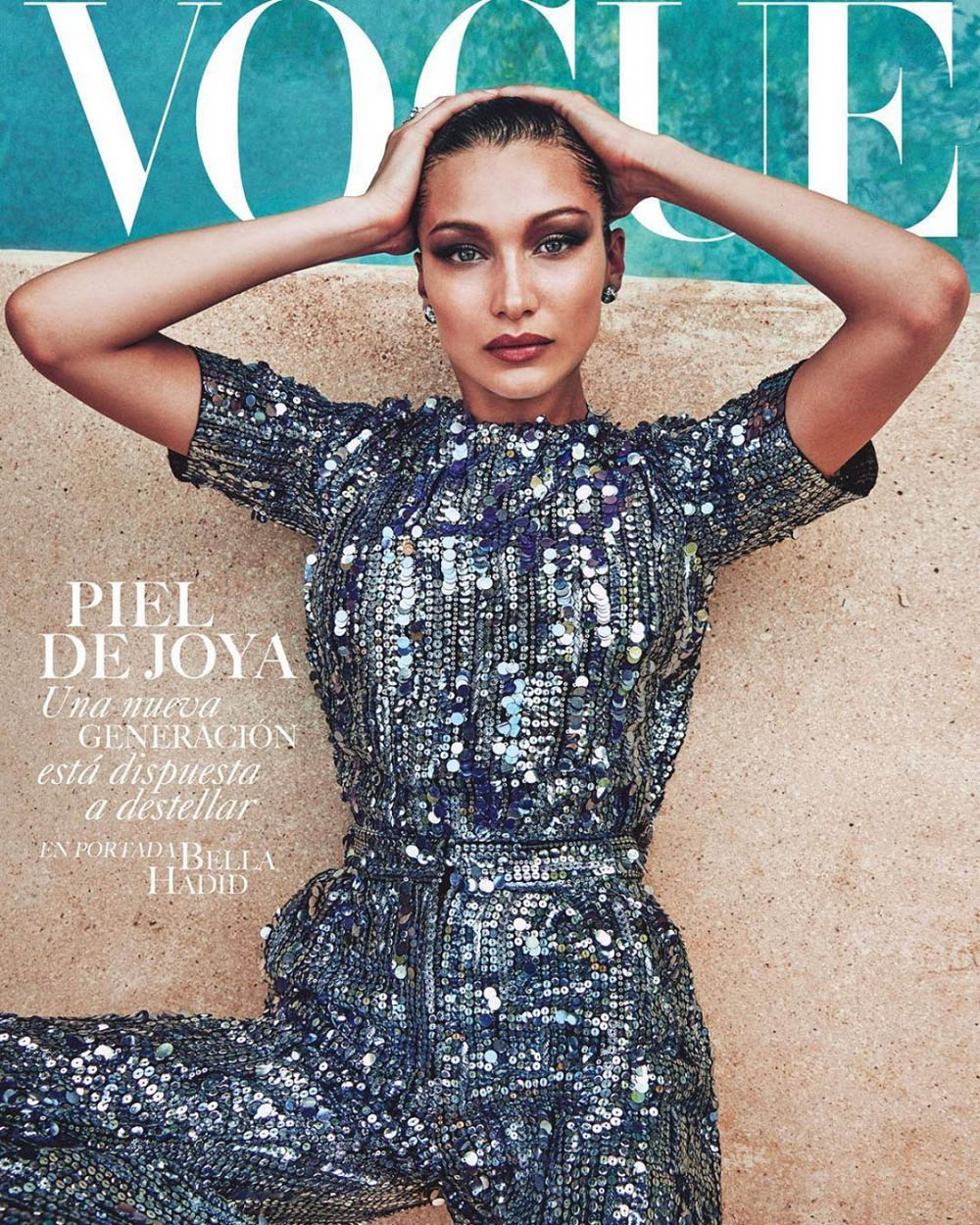 Bella Hadid covers Vogue Mexico July 2018 by Chris Colls