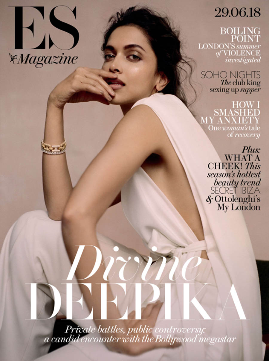 Deepika Padukone covers ES Magazine June 29th, 2018 by Buzz White