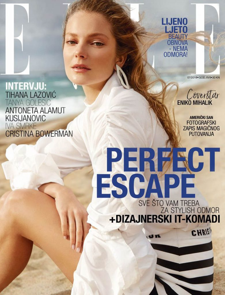 Eniko Mihalik covers Elle Croatia July 2018 by Rocío Ramos