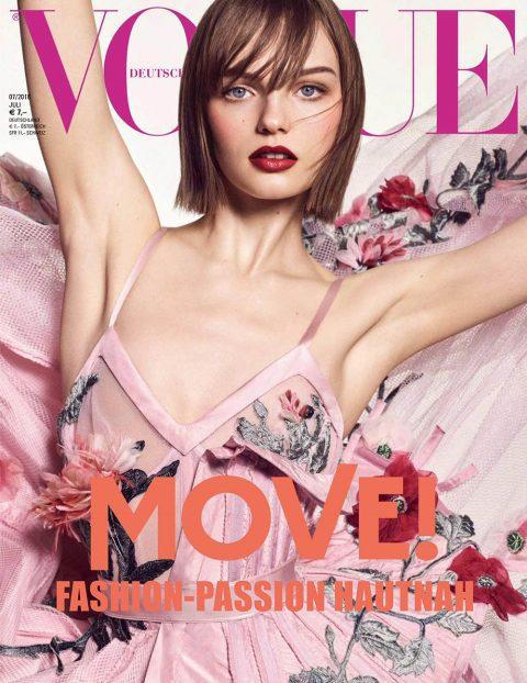 Fran Summers, Mayowa Nicholas and Vittoria Ceretti cover Vogue Germany July 2018 by Luigi & Iango